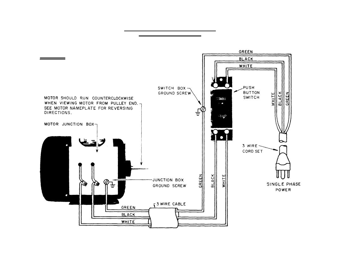 Single Phase Air  pressor Schematic on marathon electric motors wiring diagram