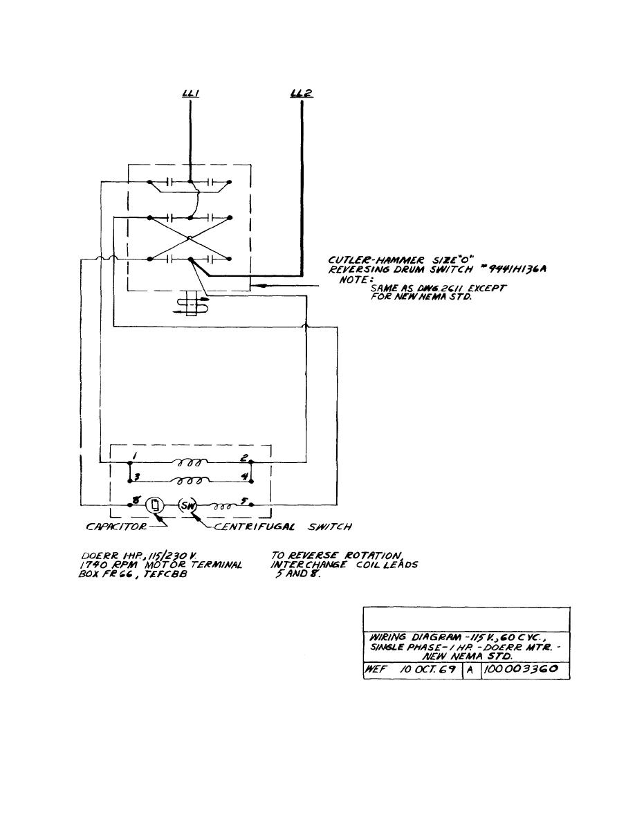 doerr single phase wiring diagram wiring diagram - 115v, 60 c vc., single phase - i hp ...