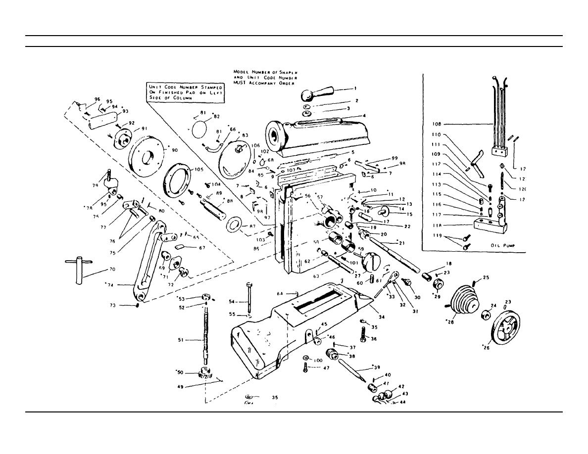 clausing lathe parts diagram