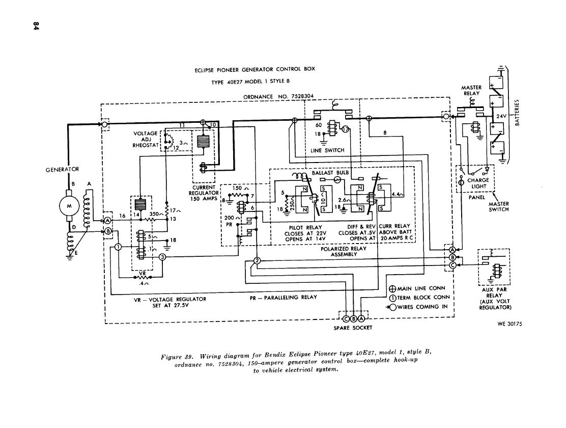 Figure 39 Wiring Diagram For Bendix Exclipse Pioneer Type 40e27 Diagrams Model 1 Style B